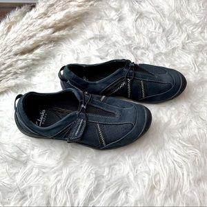 Clarks Privo Navy Blue Slip On Shoes